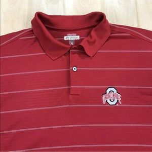 Antigua Ohio State Buckeyes Mens Polo Shirt